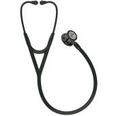 Littmann Cardiology IV Diagnostic Stethoscope, High Polish Smoke-Finish Chestpiece, Black Tube,  Champagne Stem and Black Headset, 27 inch, 6204