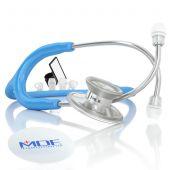 MDF Acoustica Lightweight Dual Head Stethoscope- Bright Blue (MDF747XP14)