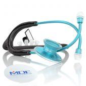 MDF Acoustica Lightweight Dual Head Stethoscope- Black and Blue (MDF747XPAQ11)