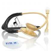 MDF Acoustica Lightweight Dual Head Stethoscope- Black and Gold (MDF747XPK11)