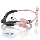 MDF Acoustica Lightweight Dual Head Stethoscope- Black and Rose Gold (MDF747XPRG11)