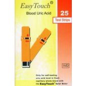 EasyTouch Uric Acid Test Strips (Box of 25)