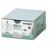 PDP880G-1/2 Circle Taper Point TP-1, 1, 65 mm, PDS PLUS Voilet Monofilament 122 cm LOOP