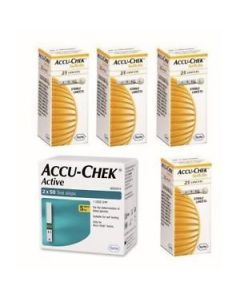 Accu-Chek Active 100 Strips + 4 packs of Lancet 25s