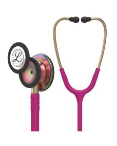 3M Littmann Stethoscope Classic III: Rainbow Finish chest-piece with Raspberry tubing 5806