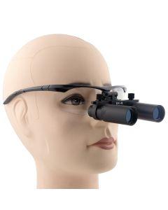 5.0 X Magnification Professional Dental Loupes Black BP Sports Frame And Adjustable Pupil Distance Model -DM5