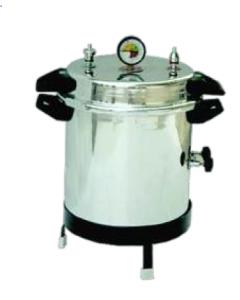 Portable vertical autoclave aluminium non-electric
