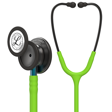 Littmann Classic III Monitoring Stethoscope, Smoke Chestpiece, Lime Green Tube, Blue Stem and Smoke Headset, 27 inch, 5875