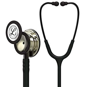 Littmann Stethoscope Classic III: Champagne Chestpiece, Black Tube, 27 inch, 5861