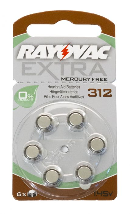 Cochlear Baha Mercuryfree Battery Size 312,10 Cards 95223