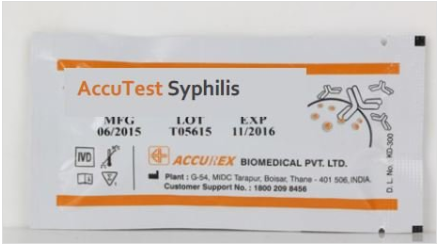 Accurex Accutest Syphilis (Pack of 50 Tests)
