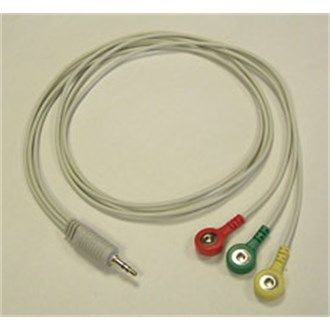 ChoiceMMed Stud Type 3 Lead ECG Cable (US FDA and CE approved )